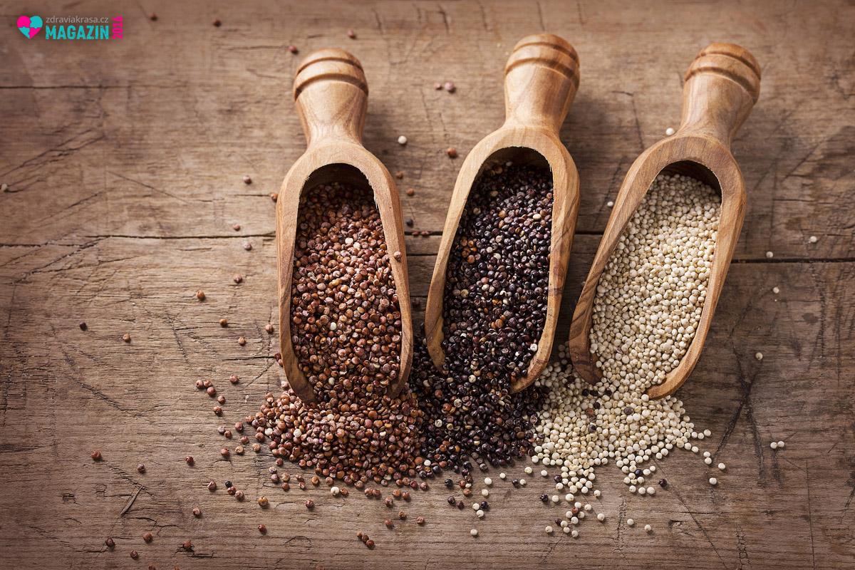 Quinoa se vyskytuje v bílé, červené a černé formě. Každá má vyniká malinko jinou chutí.