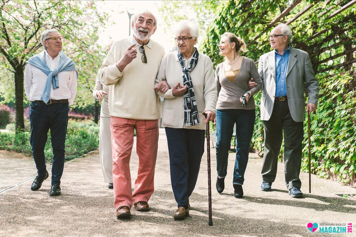 Chůze je ideální pohybovou aktivitou i pro seniory.