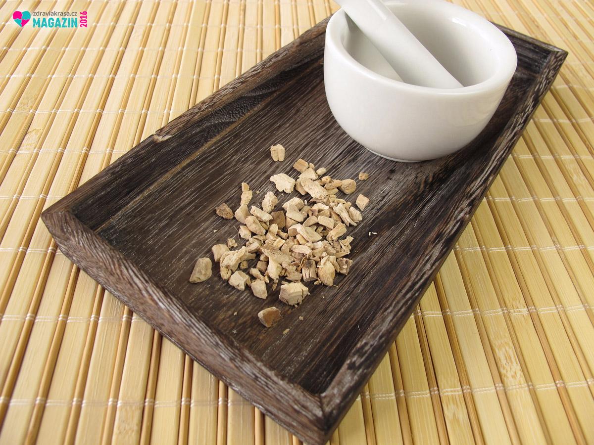 Základem pro žaludeční čaj je sušený kořen puškvorce.