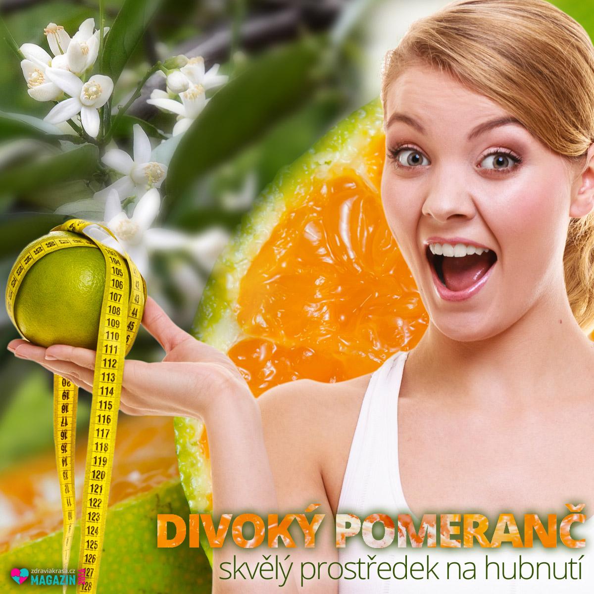 Díky obsaženému synefrinu se hořký pomeranč hodí jako součást odtučňovacích kúr a prostředků na hubnutí.