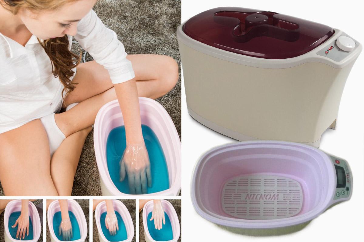 Parafínové vany slouží na rozpuštění a zahřátí parafínu na léčební teplotu. Postižené či ošetřované místo pak do vany opakovaně ponoříte, nebo rozpuštěný parafín nanášíte na tělo pomocí štětce.