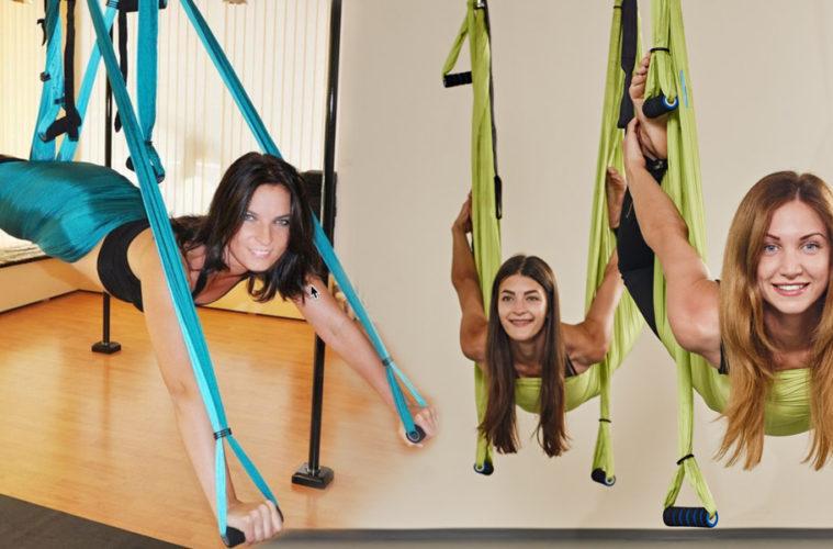 Aerojóga je cvičení inspirováno jógou, gymnastikou, strečinkem, pilates i akrobacií. Zacvičit si jej lze hromadně v kurzech, ale i doma.