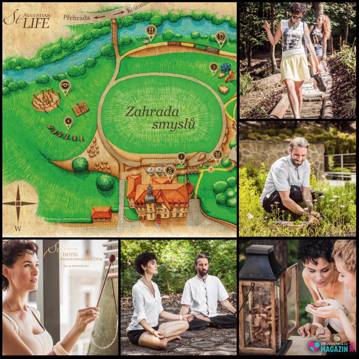Restartujte své smysly v Zahradě 6 smyslů Wellness&spa hotelu Augustiniánský dům v Luhačovicích.