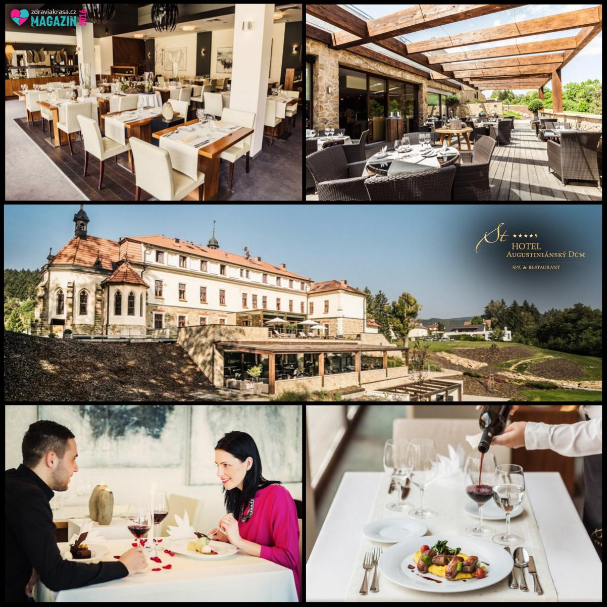 Restaurace Symfonie hotelu Augustiniánský dům nabízí nejen chuťové zážitky, ale i zážitky luxusní lázeňské atmosféry.