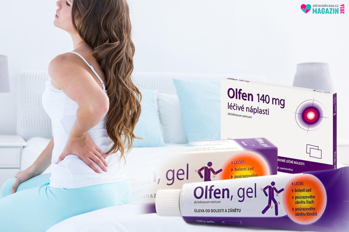 Na bolest zad pomůže Olfen gel.