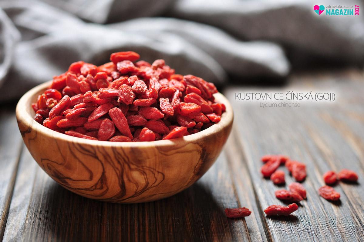 Kustovnice čínská, neboli goji, je především silný antioxidant a bohatý zdroj vitamínu C.