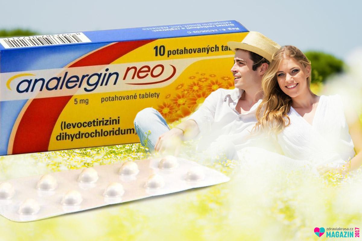 Analergin Neo se používá k léčbě příznaků spojených s alergickými stavy, jako jsou senná rýma, přetrvávající alergická rýma a chronická kopřivka. Obsahuje levocetirizini dihydrochloridum 5 mg.