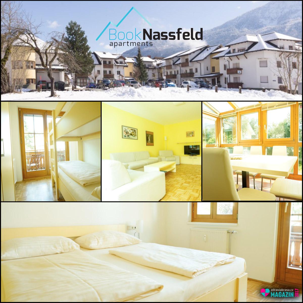 Ubytování apartmánového typu v Nassfeldu nabízí moderně vybaveny jednolůžkové až osmilůžkové pokoje.