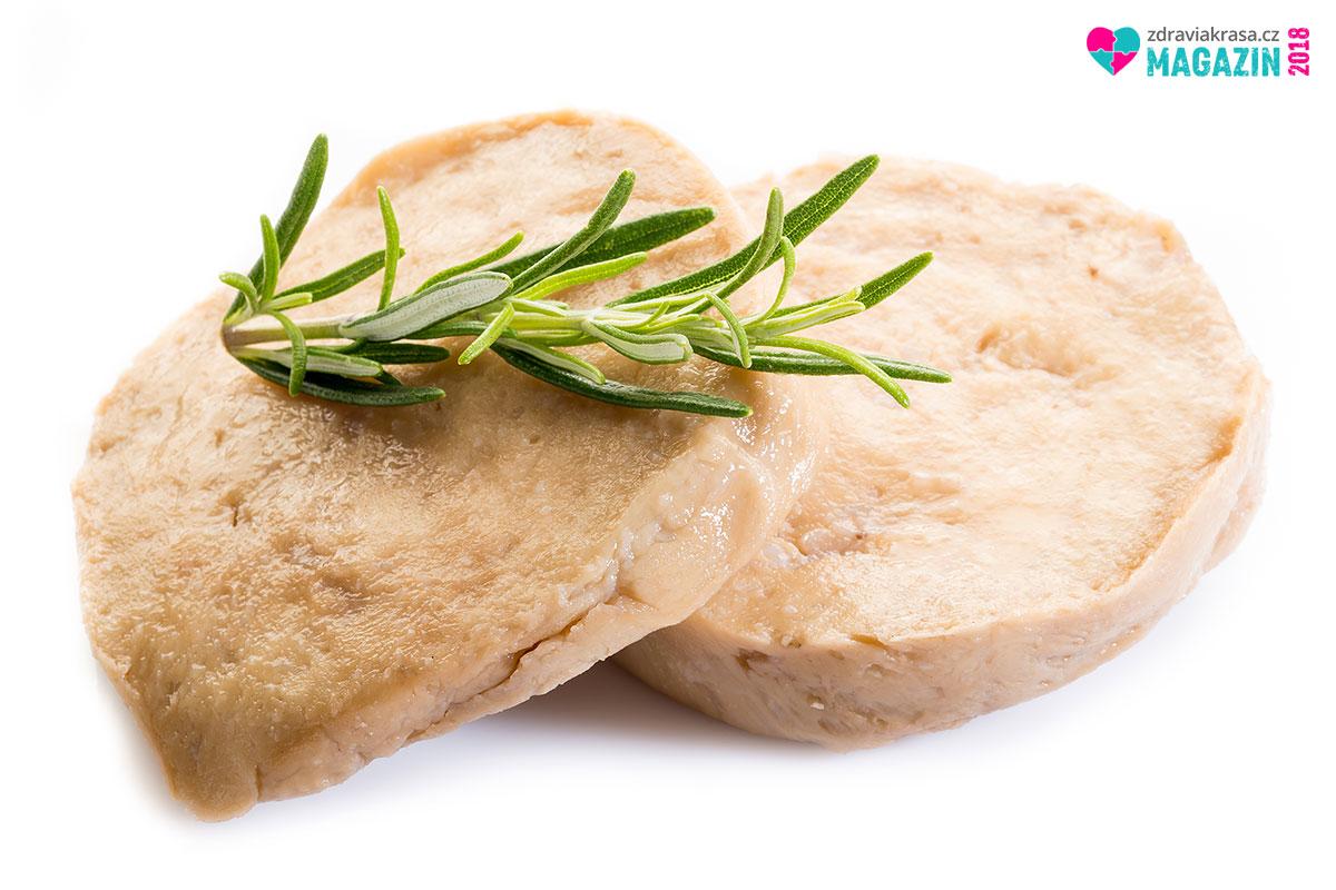 Náhražka masa, seitan, může vypadat velice lákavě.