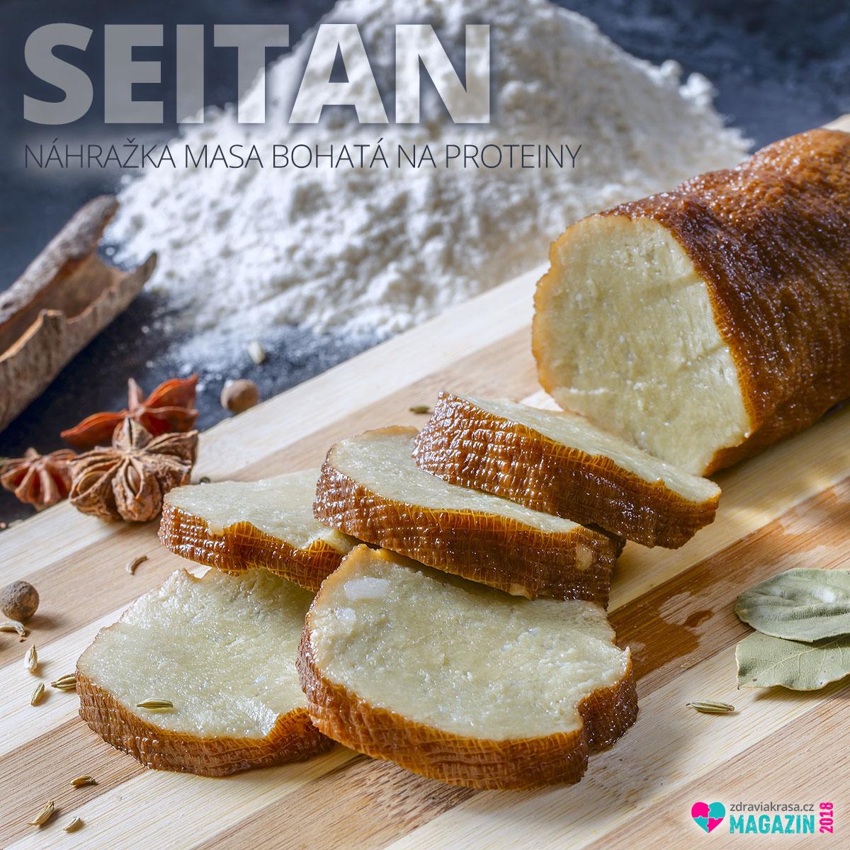 Doma připravená náhražka masa bohatá na proteiny – seitan. Výroba je snadná.