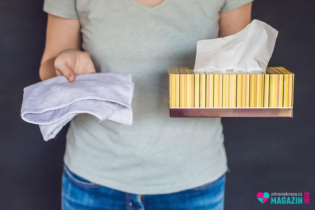 Jednorázové kapesníky a hadříky do zero waste životního stylu rozhodně nepatří.