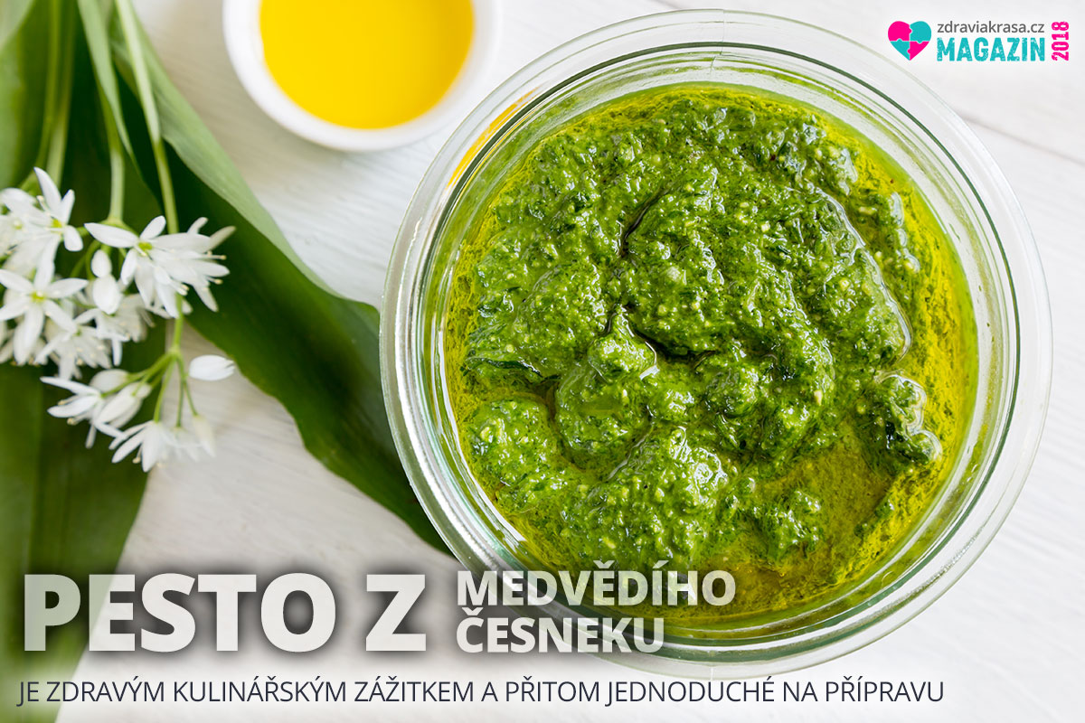 Pesto z medvědího česneku je zdravým kulinářským zážitkem. Na přípravu je přitom velice jednoduché.