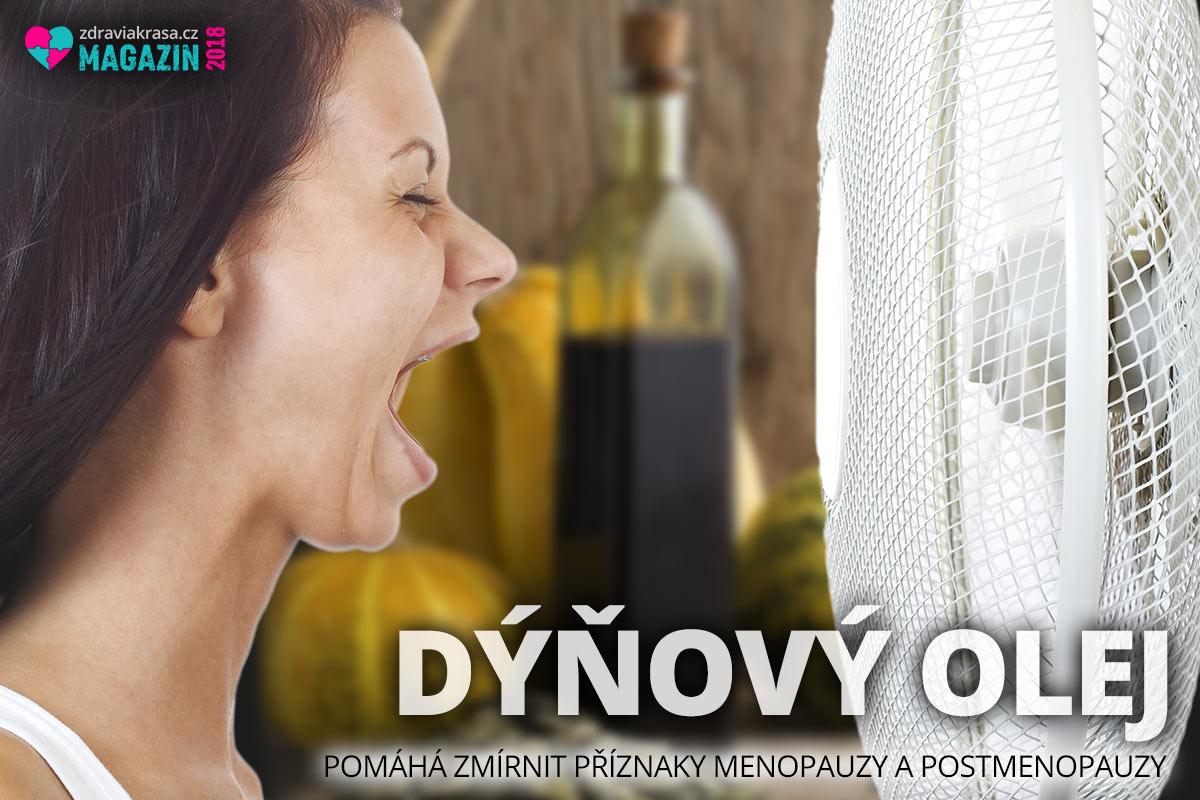 Pravidelné a dlouhodobé užívání dýňového oleje pomáhá zmírnit příznaky menopauzy a postmenopauzy.