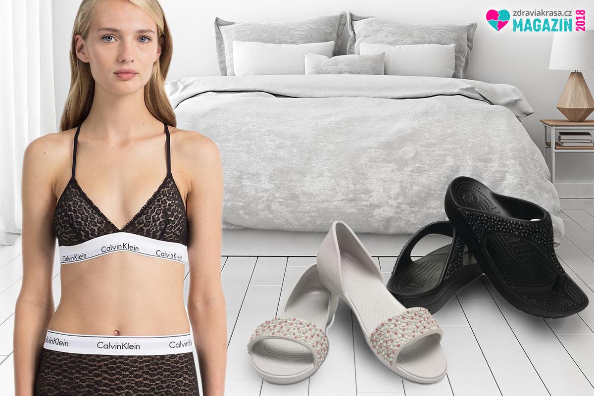 Crocs obuv umí být elegantní. Třeba i jako domácí boty vhodné k luxusnímu spodnímu prádlu Calvin Klein. (Tyto originální modely koupíte na Different.cz.)