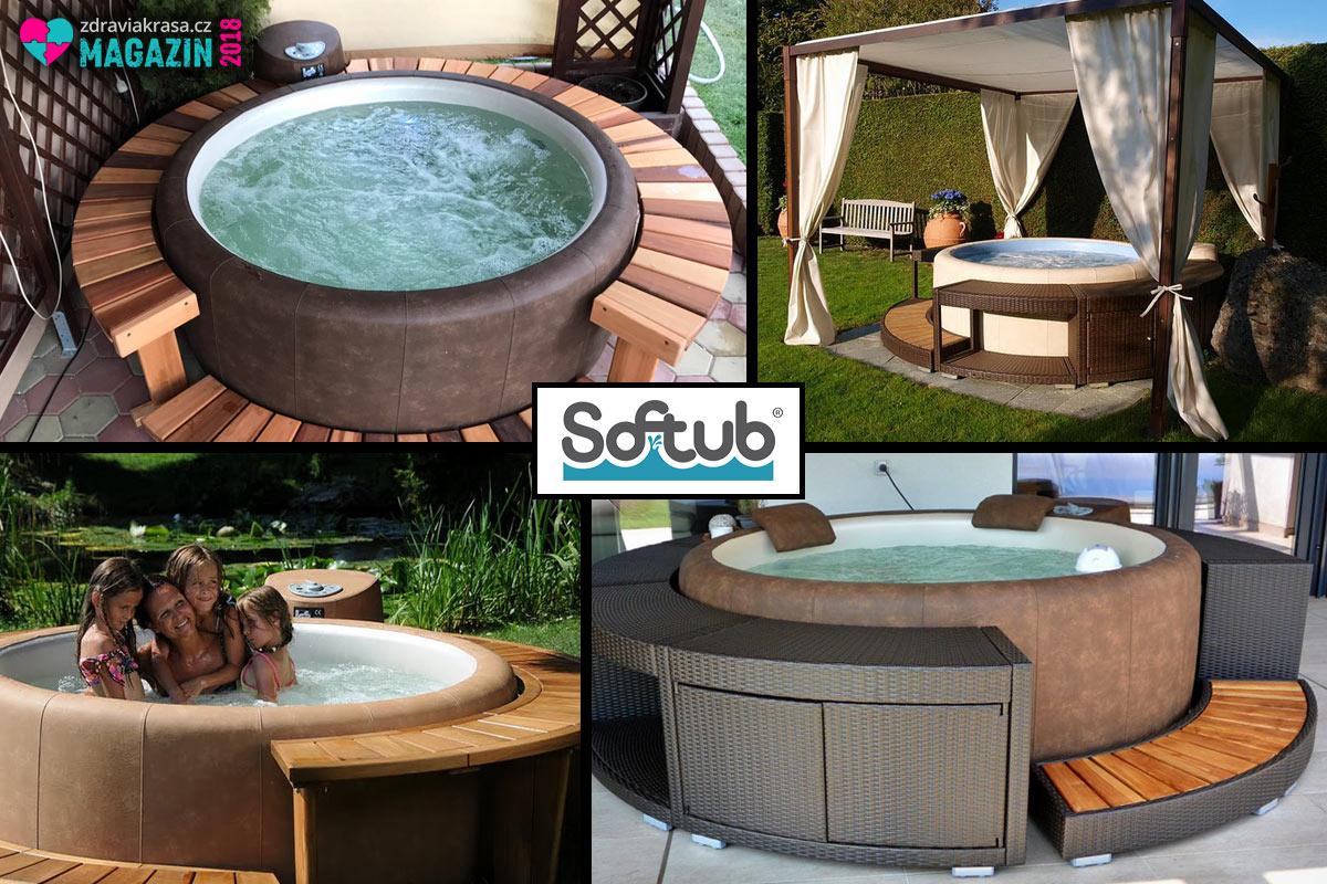 Kvalitními vířivými bazénky pro venkovní použití jsou Softub.