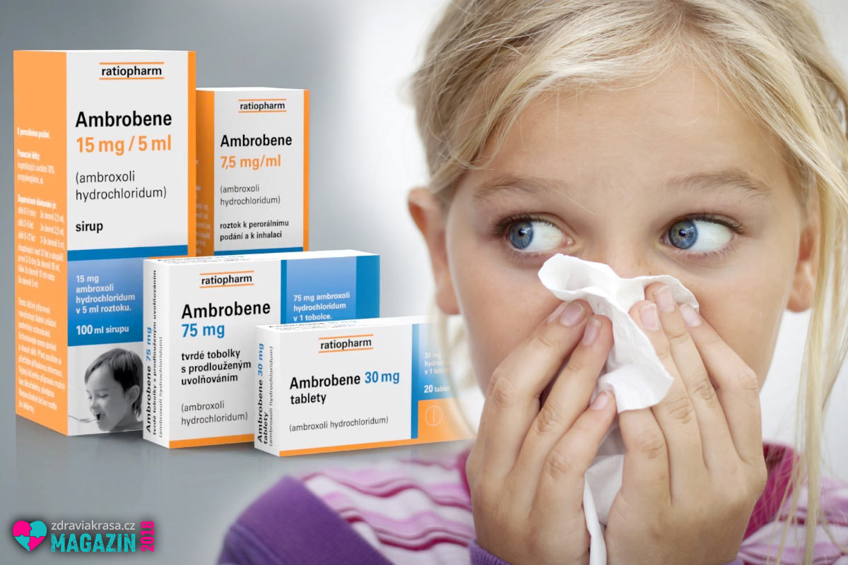 Léčivé přípravky Ambrobene na vlhký kašel pořídíte jako tablety, sirup i roztok.