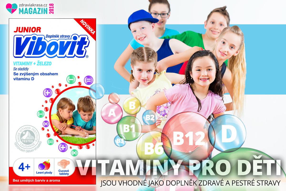 Doplněk stravy Vibovit Junior je určen dětem od 4 do 10 let.
