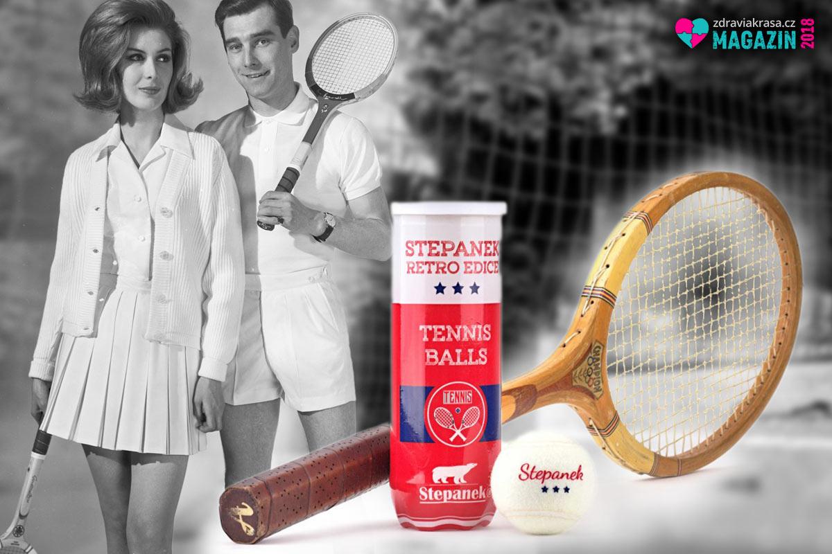 Retro láká, dokonce i v tenisu. Zkuste bílé retro tenisové míčky Stepanek.