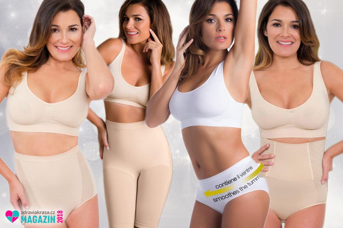 Stahovací bezešvé kalhotky ze sortimentu italské značky Intimidea. Výrobky jsou k dostání i u nás.