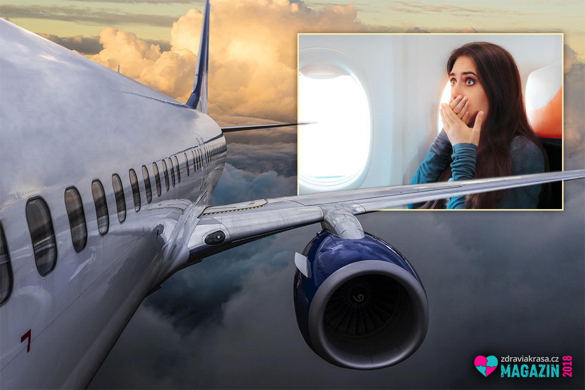 Strach z létání je jedním z častých problému při letu.