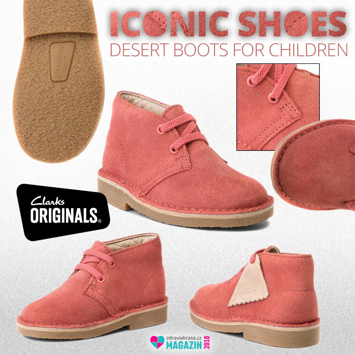 Ikonické boty Desert Boots od Clarks – tentokrát jako Desert Boots pro děti.