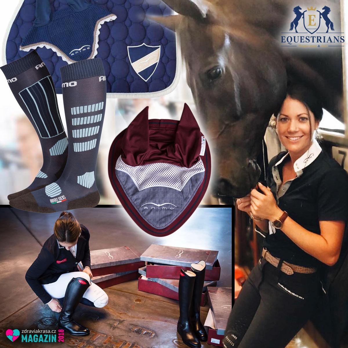 Jezdecké oblečení i potřeby pro koně značky Animo koupíte v e-shopu a kamenné prodejně Equestrians.
