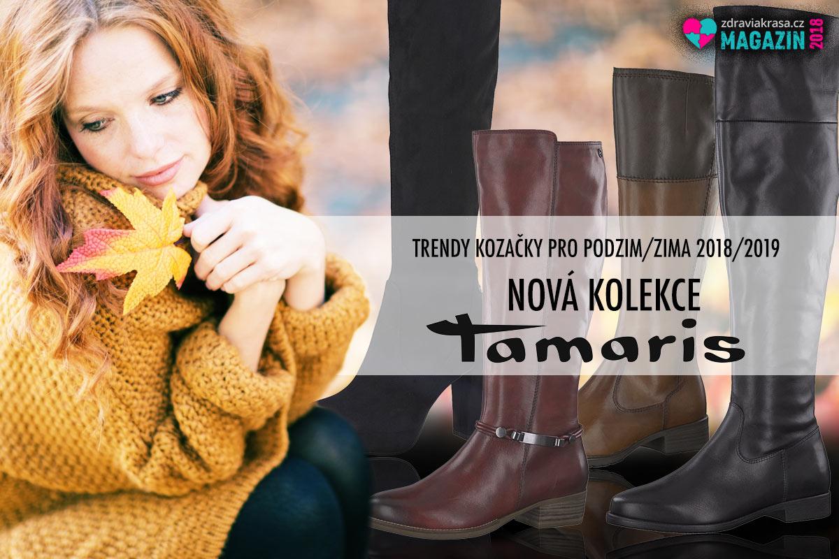 Vysoké kozačky z kolekce Tamaris pro letošní podzim a zimu 2018/2019.