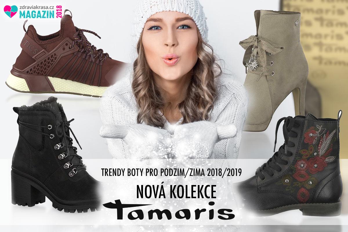 Zimní a celoroční boty z kolekce Tamaris pro letošní podzim a zimu 2018/2019.