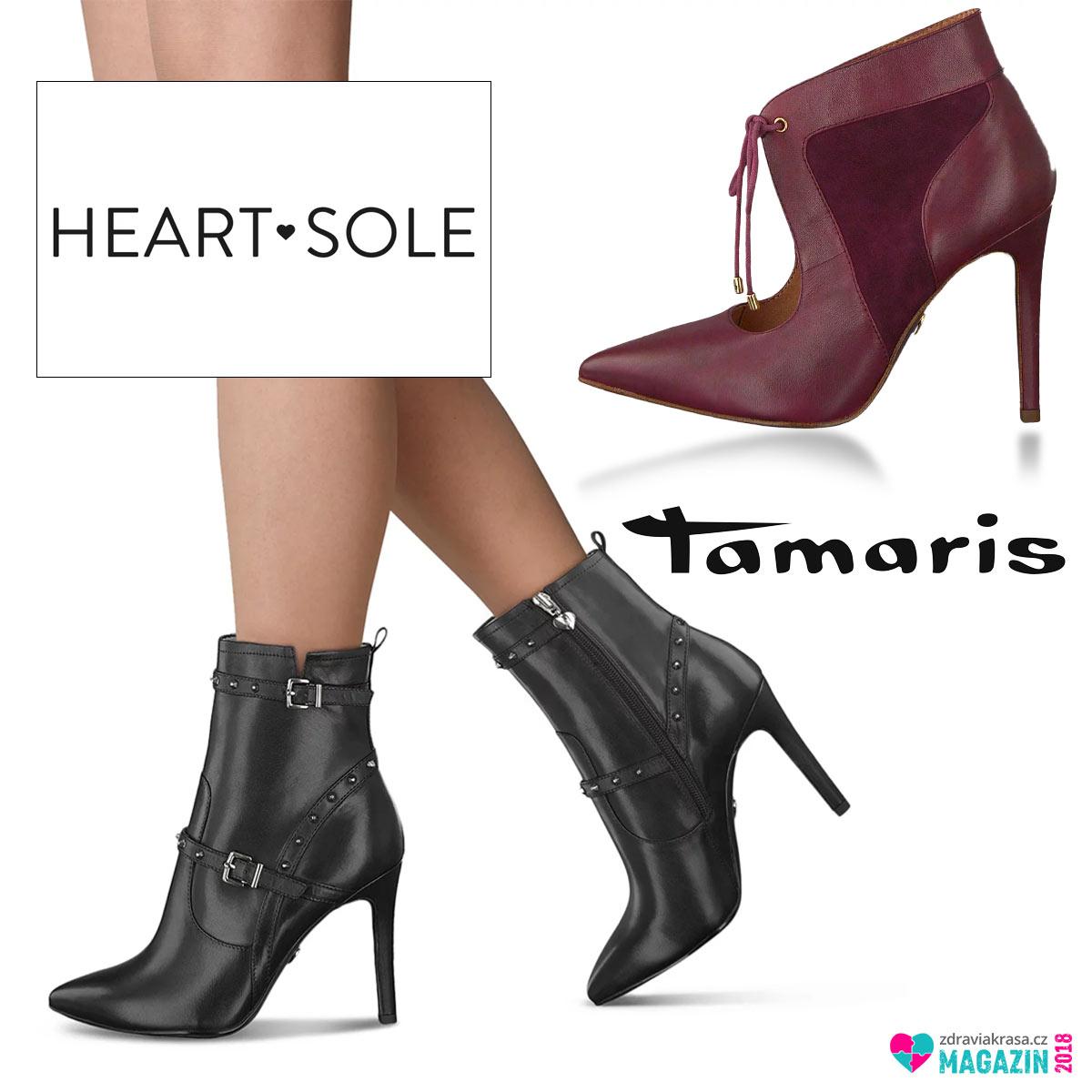 Nízké kozačky a kotníkové boty na extra vysokém podpatku jsou nyní mnohem pohodlnější díky technologii Heart Sole.