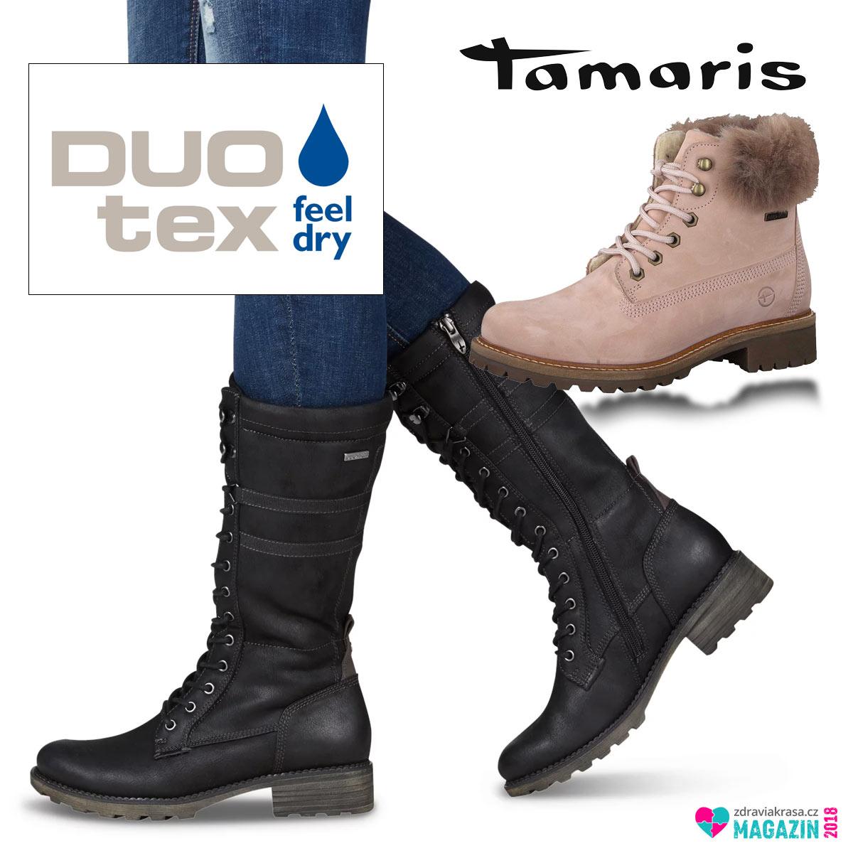 Zimní boty s membránou DuoTex, která je nepromokavá, ale zevnitř prodyšná.