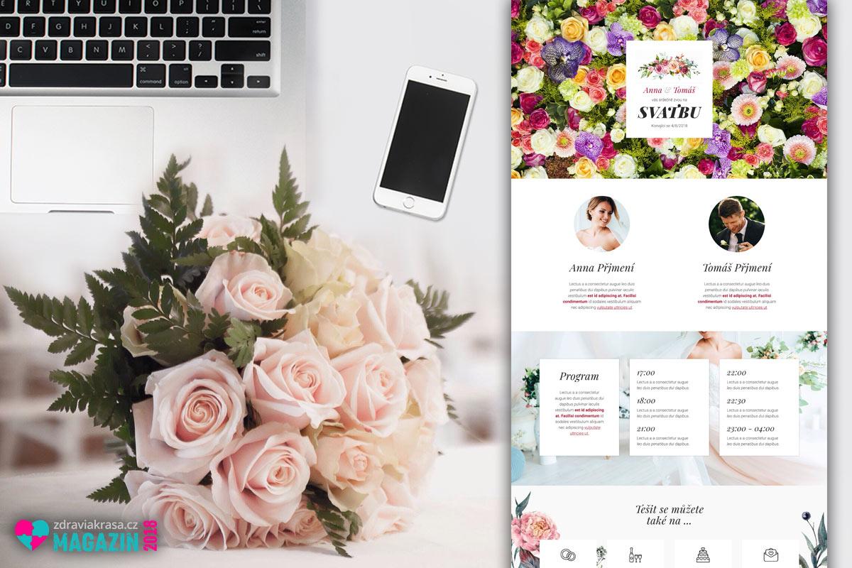 Svatební web si vytvoříte snadno bez cizí pomoci. Udělejte to už před svatbou. Ušetříte třeba za posílání oznámení nebo pozvánek na svatbu. Uděláte je totiž na webu a odkazy na ně pošlete známým a svatebčanům e-mailem.