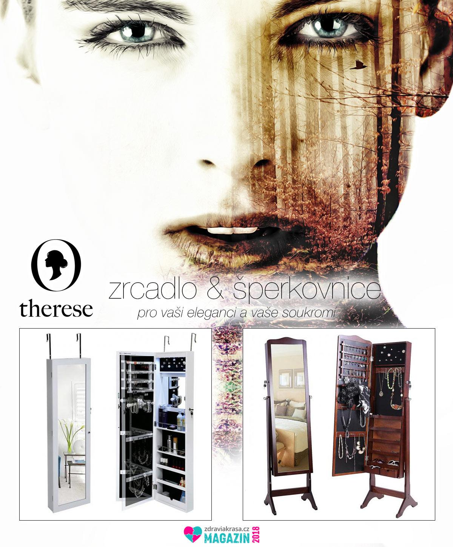 Vysoké zrcadlo se šperkovnicí je multifunkčním kusem dámského nábytku. Existuje v mnoha provedeních. Třeba jako závěsné na dveře, na otočném stojanu, na klasickém stojanu, či jako závěsné na zeď. V e-shopu Therese.cz koupíte aktuálně 11 modelů.