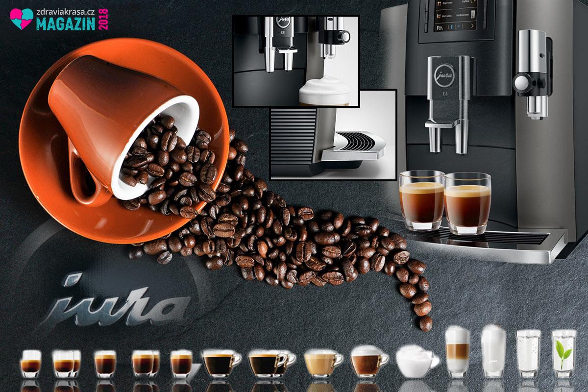 Kávovar JURA E8 umí připravit až 15 druhů nápojů.