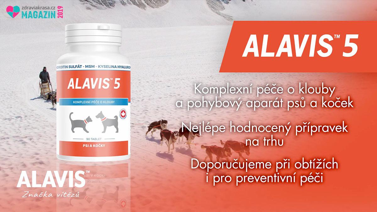 Alavis 5 je určen pro psy a kočky při potížích s pohybovým aparátem i jako prevence.