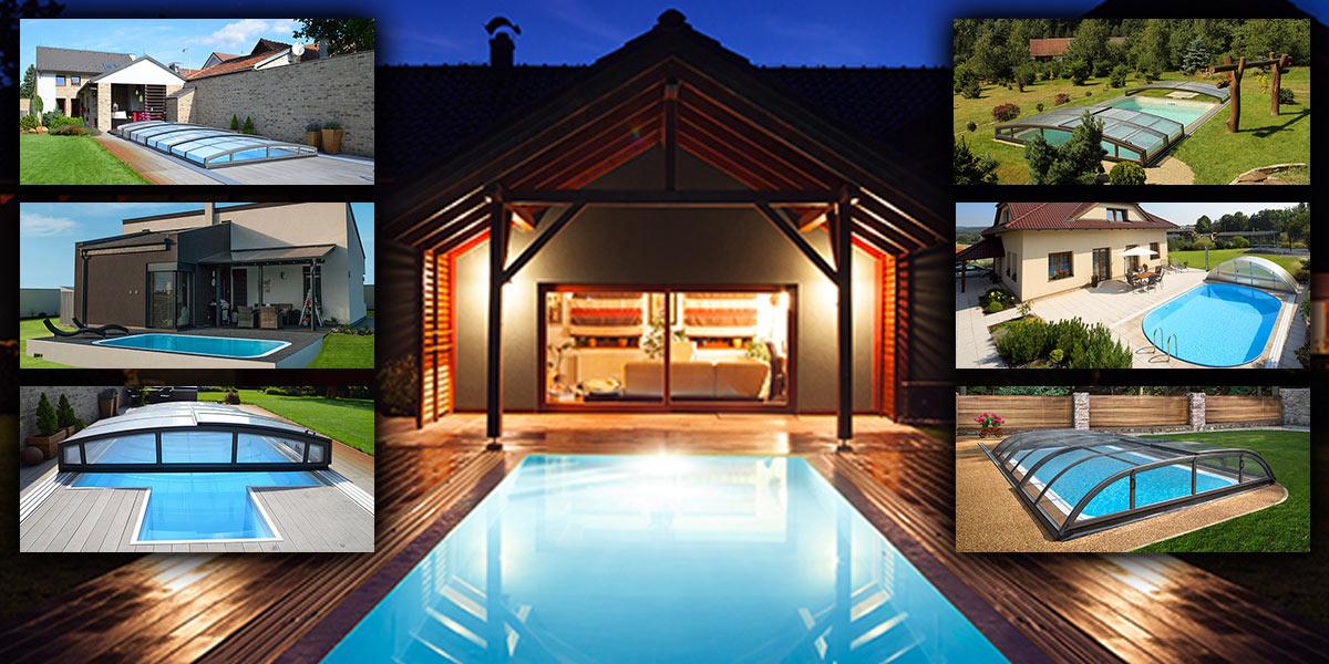 Bazén je základem domácího wellness. Aby byl dobře využitelný i v našich klimatických podmínkách, je optimální budovat jej se zastřešením.