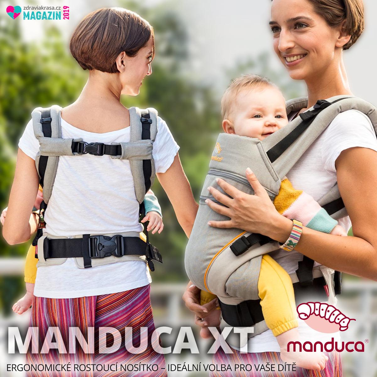 Manduca XT je ergonomické rostoucí nosítko pro kojence i malé děti.