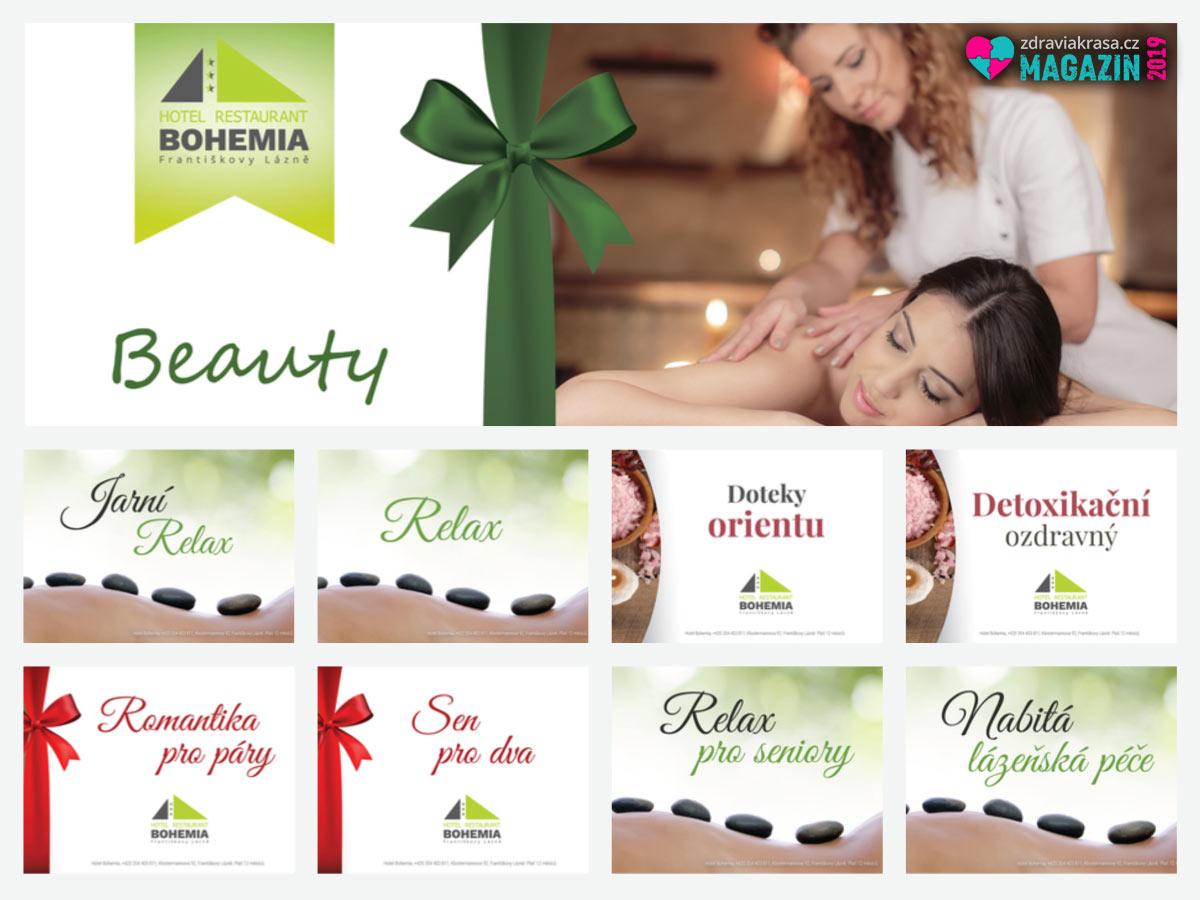 Wellness pro dva 2019: to je Hotel Bohemia Františkovy Lázně. Vyberte si některý wellness balíček, nebo si namíchejte procedury dle vlastního uvážení.