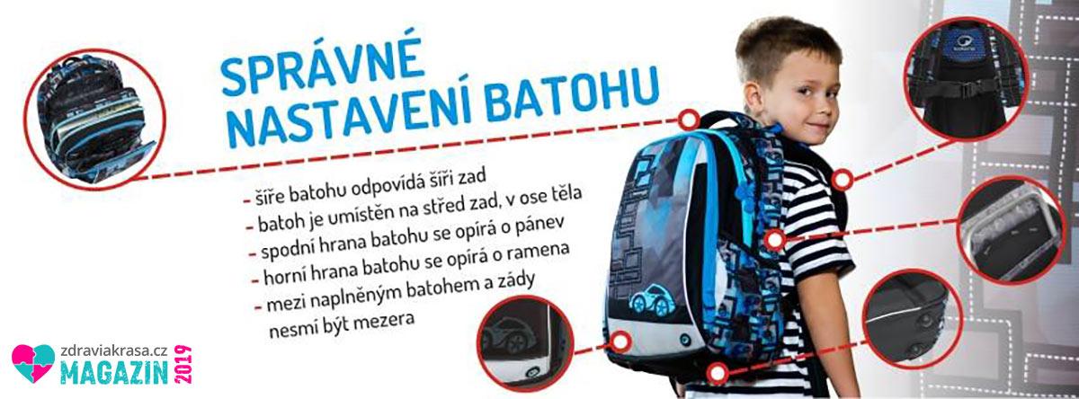 Podívejte se, jak správně nastavit školní batoh.