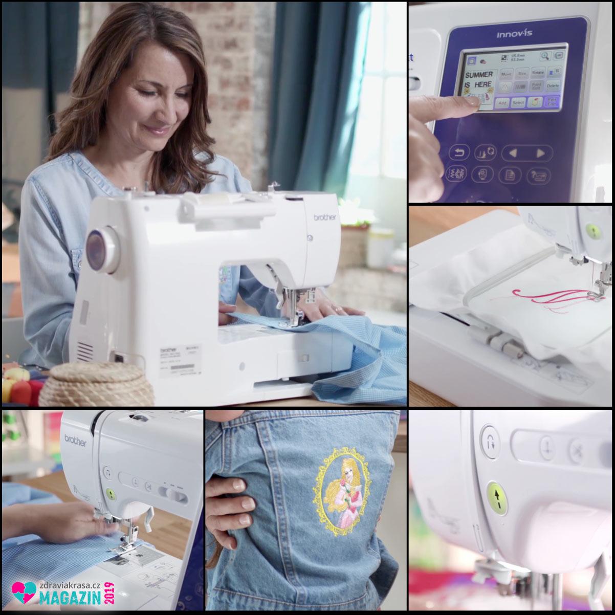 Vyšívací šicí stroje Brother budou zábavou pro vás, a zdrojem unikátní módy pro vaše děti.