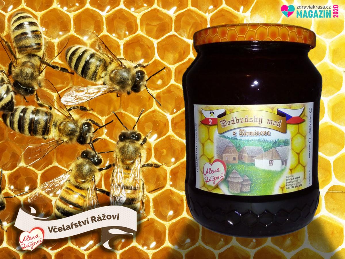 Včelařství Rážovo nabízí český med z okolí brdských lesů.