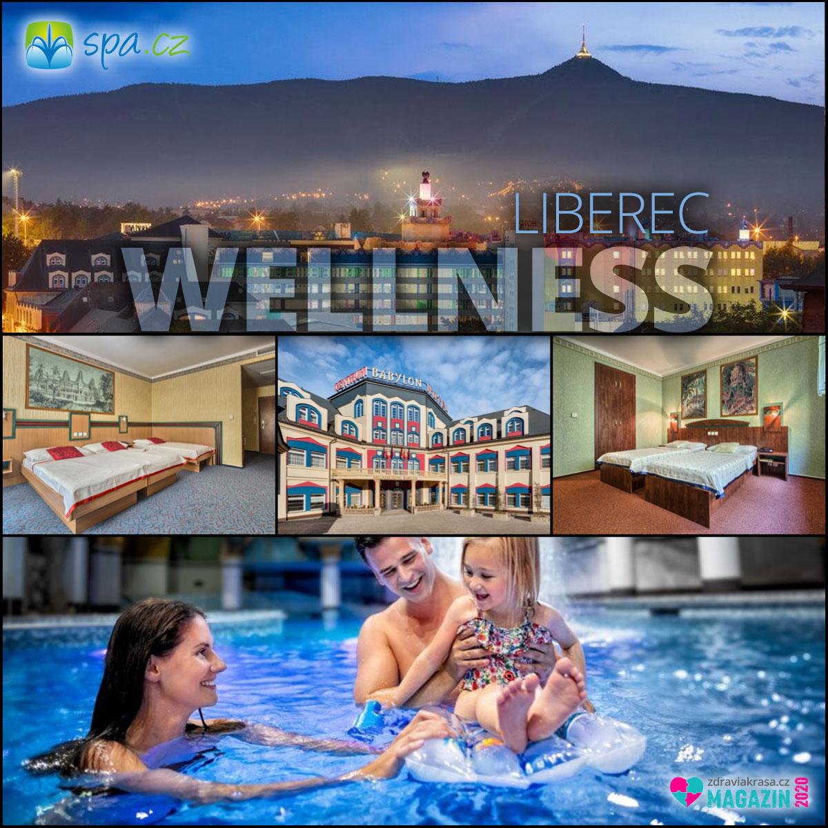 Wellness pobyt v libereckém hotelu Babylon se hodí i pro rodiny s dětmi.